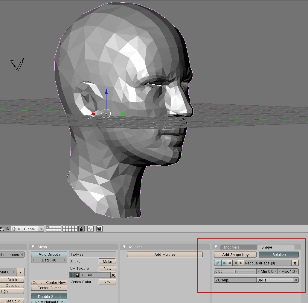 Open up 3ds Max and import the head using Blender settings. Choose to  import as an Editable Poly. Rotate it 180 degrees on the Z axis to make it  face Front.