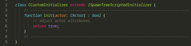 custom scriptbased initializer