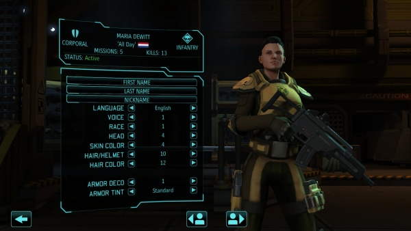 "Base Soldier ""Customize"" Screen"